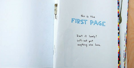 The first page...